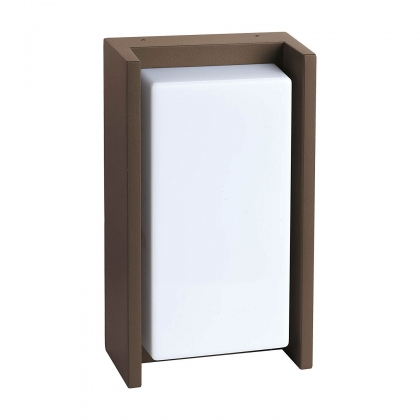 APPLIQUE MURALE LED HOUSTON 12W 4000K OXYDE MARRON