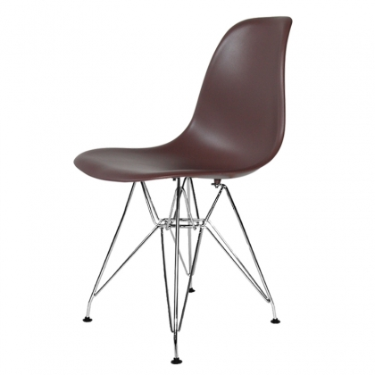 SILLA TOWER CHROME CALIDAD SUPERIOR CHOCOLATE
