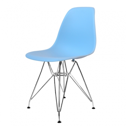 SILLA TOWER CHROME TOP QUALITY AZUL CELESTE