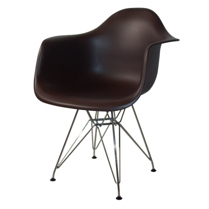SILLÓN TOWER CHROME CHOCOLATE