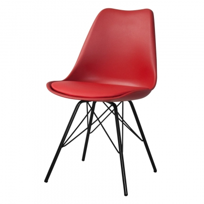 SILLA TOWER METALIC ROJO-NEGRA