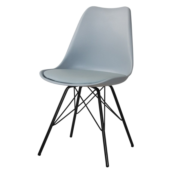 SILLA TOWER METALIC GRIS NEGRA