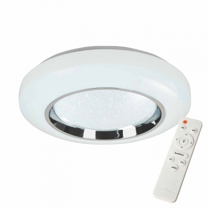 PLAFONNIER LED 45W RÉGLABLE CHROME