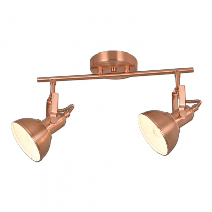 REGLETA DECORATIVA 2 LUCES MURRAY COBRE