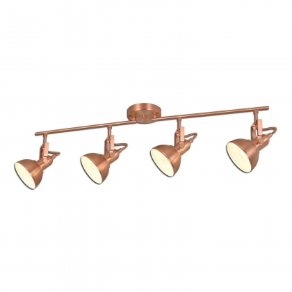 REGLETA DECORATIVA 4 LUCES MURRAY COBRE