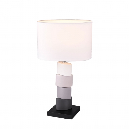 LAMPE DE TABLE CARTER CÉRAMIQUE BLANC 43CM