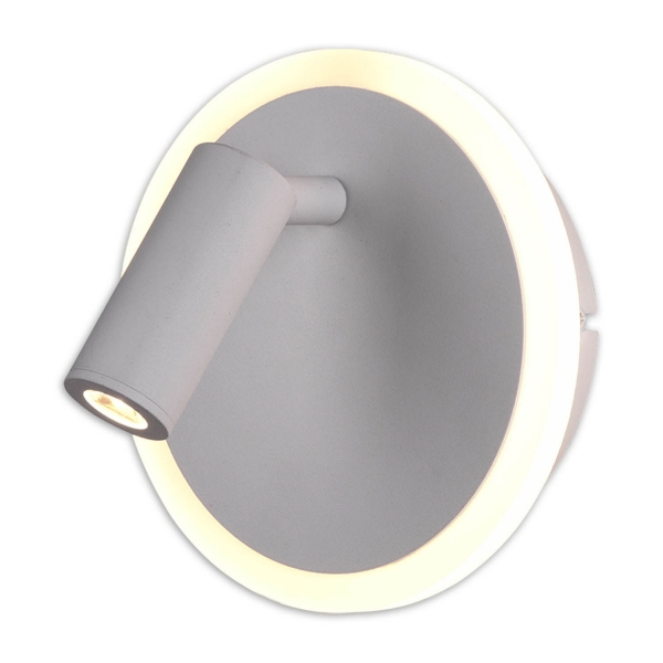 APLIQUE DE PARED CATRIEL LED 5W+2W 3000K BLANCO