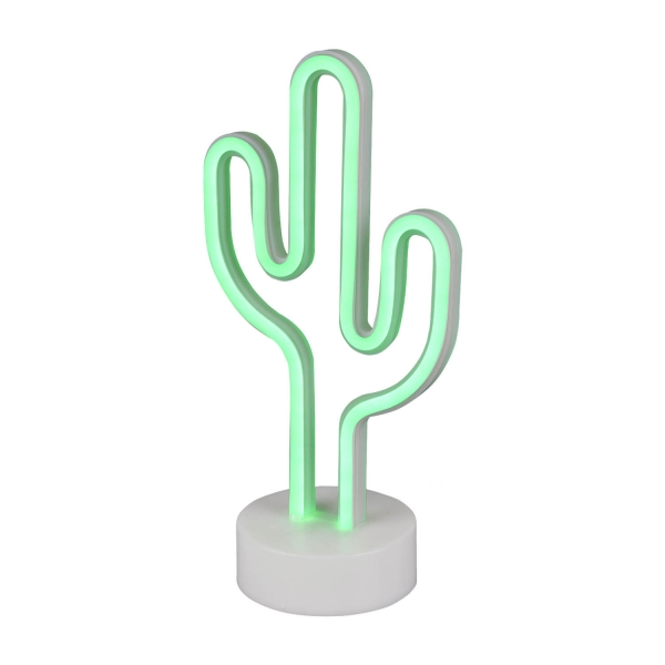 LÁMPARA DE MESA DECORATIVA CACTUS SMD LED 1W