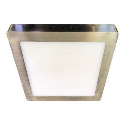 DOWNLIGHT SUPERFICIE CUADRADO LED 18W 4000K CUERO