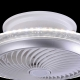 PLAFÓN VENTILADOR LED CASTOR PLATA REGULABLE