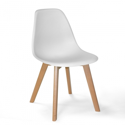 CHAISE TOWER SCARLETT BLANC BOIS