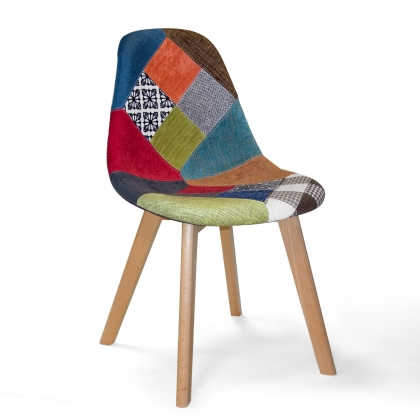 CHAISE TOWER SCARLETT PATCHWORK BOIS