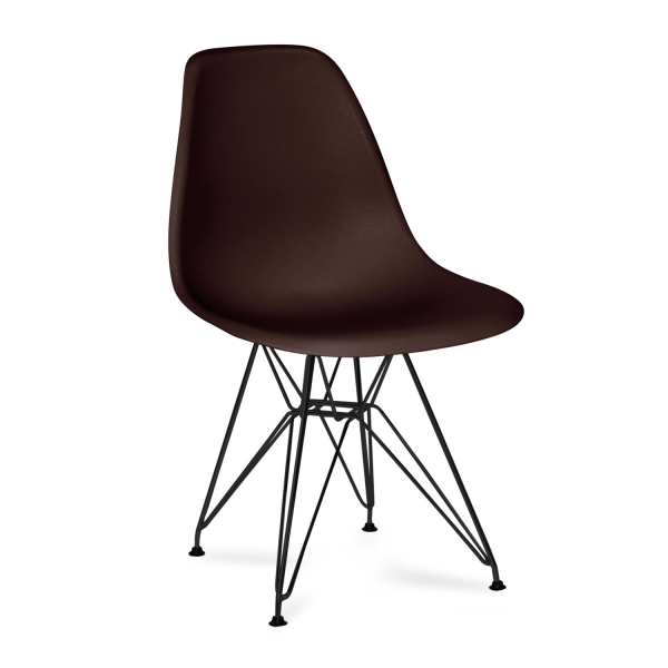 SILLA TOWER CHROME SCHWARZ CALIDAD SUPERIOR CHOCOLATE