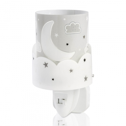 QUITAMIEDOS LED MOON GRIS