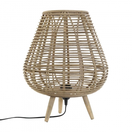 LAMPE DE TABLE BAMBU FEUILLES NATURELLE E27