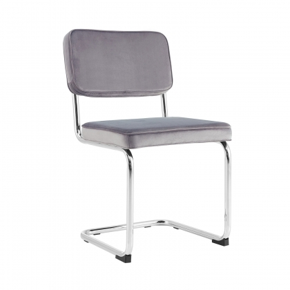 CHAISE CATALINA VELOURS GRIS