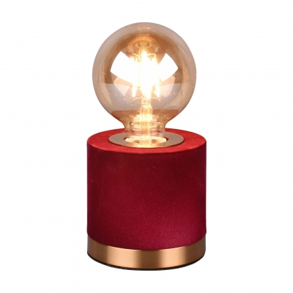 LAMPE DE TABLE GANNICUS VELOURS ROUGE E27