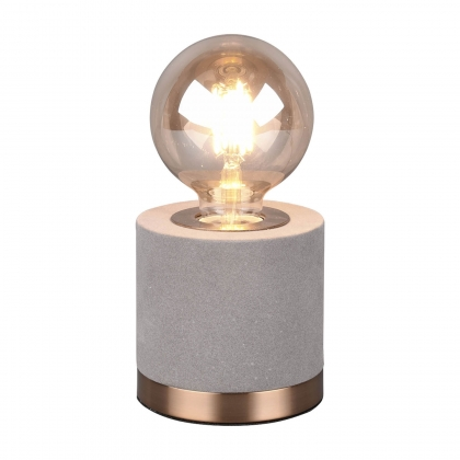 LAMPE DE TABLE GANNICUS VELOURS GRIS E27