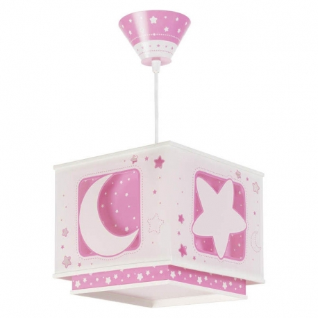 Lamparas infantiles luna rosa lamp ra bebe de dalber for Lamparas pared infantiles