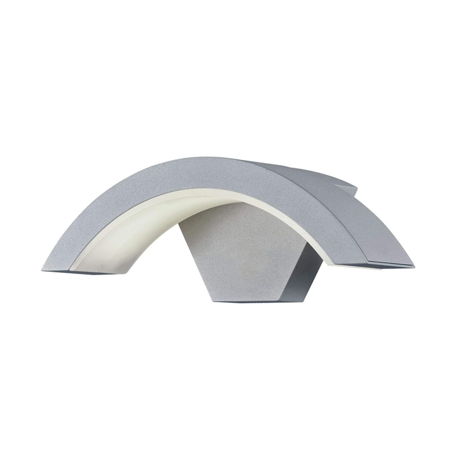 Aplique de exterior led oscar plata apliques led exterior for Apliques de pared exterior led
