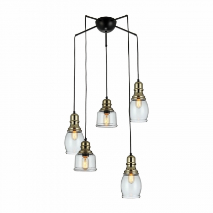 SUSPENSION ADELINE 5 LUMIERES VINTAGE