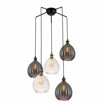 SUSPENSION 5 LUMIERES AERYN VINTAGE