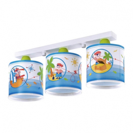 PLAFON INFANTIL 3 LUCES PIRATE