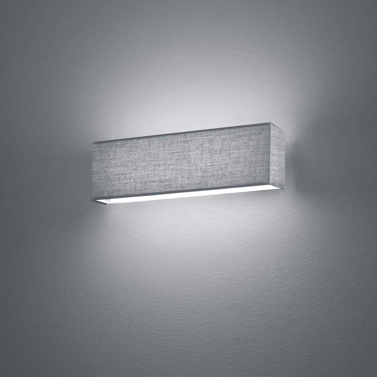 Aplique de pared led carlo 6w gris for Apliques de pared exterior led