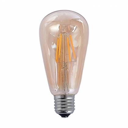 AMPOULE DECORATIVE AMBRE LED E27 4W 360 LM