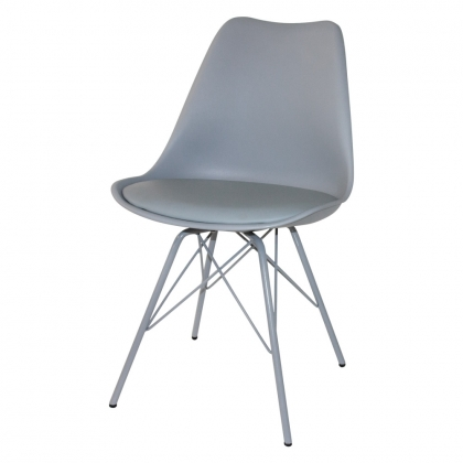 SILLA TOWER METALIC GRIS