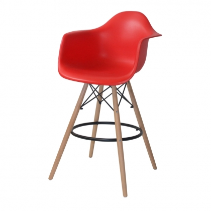 SILLON TABURETE TOWER ROJO